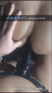 strap-on and pegging sessions