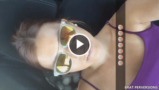snapchat public car slut