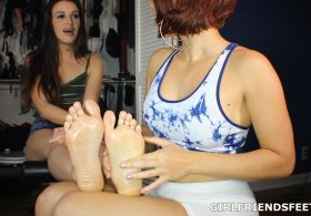 Lovely Lesbian Feet Massage