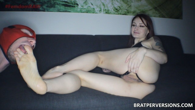 redhead foot domination